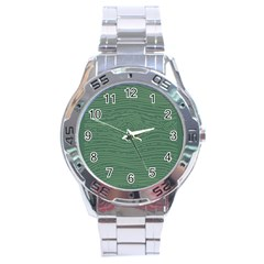 Illustration Green Grains Line Stainless Steel Analogue Watch by Alisyart