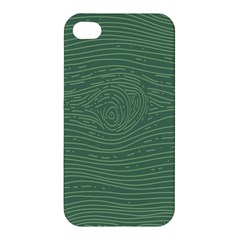 Illustration Green Grains Line Apple Iphone 4/4s Premium Hardshell Case by Alisyart