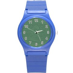 Illustration Green Grains Line Round Plastic Sport Watch (s) by Alisyart
