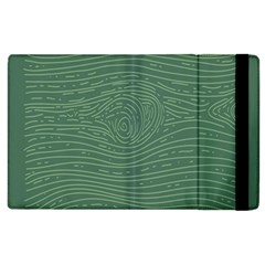 Illustration Green Grains Line Apple Ipad 3/4 Flip Case by Alisyart