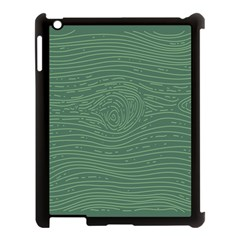 Illustration Green Grains Line Apple Ipad 3/4 Case (black) by Alisyart