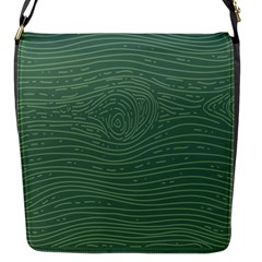 Illustration Green Grains Line Flap Messenger Bag (s)