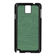 Illustration Green Grains Line Samsung Galaxy Note 3 N9005 Case (black) by Alisyart
