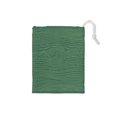 Illustration Green Grains Line Drawstring Pouches (small)
