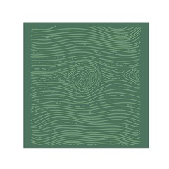 Illustration Green Grains Line Small Satin Scarf (square)