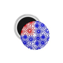 Flower Floral Smile Face Red Blue Sunflower 1 75  Magnets by Alisyart