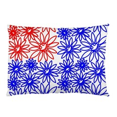 Flower Floral Smile Face Red Blue Sunflower Pillow Case by Alisyart