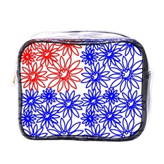 Flower Floral Smile Face Red Blue Sunflower Mini Toiletries Bags by Alisyart