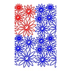 Flower Floral Smile Face Red Blue Sunflower Shower Curtain 48  X 72  (small)  by Alisyart