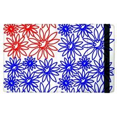 Flower Floral Smile Face Red Blue Sunflower Apple Ipad 2 Flip Case by Alisyart