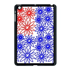 Flower Floral Smile Face Red Blue Sunflower Apple Ipad Mini Case (black) by Alisyart