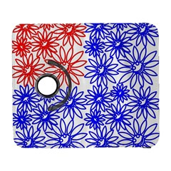 Flower Floral Smile Face Red Blue Sunflower Galaxy S3 (flip/folio) by Alisyart
