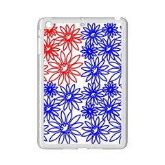 Flower Floral Smile Face Red Blue Sunflower Ipad Mini 2 Enamel Coated Cases
