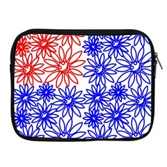Flower Floral Smile Face Red Blue Sunflower Apple Ipad 2/3/4 Zipper Cases