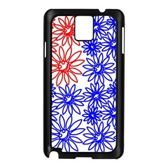 Flower Floral Smile Face Red Blue Sunflower Samsung Galaxy Note 3 N9005 Case (black) by Alisyart