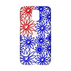 Flower Floral Smile Face Red Blue Sunflower Samsung Galaxy S5 Hardshell Case