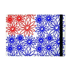 Flower Floral Smile Face Red Blue Sunflower Ipad Mini 2 Flip Cases by Alisyart