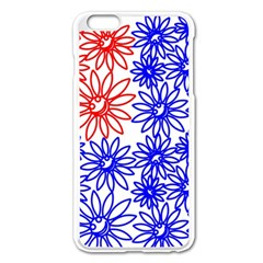 Flower Floral Smile Face Red Blue Sunflower Apple Iphone 6 Plus/6s Plus Enamel White Case by Alisyart