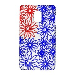 Flower Floral Smile Face Red Blue Sunflower Galaxy Note Edge by Alisyart