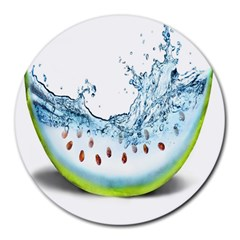 Fruit Water Slice Watermelon Round Mousepads by Alisyart