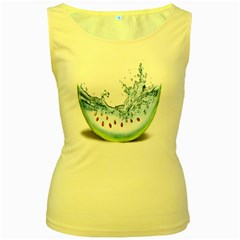 Fruit Water Slice Watermelon Women s Yellow Tank Top by Alisyart