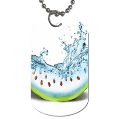 Fruit Water Slice Watermelon Dog Tag (two Sides) by Alisyart