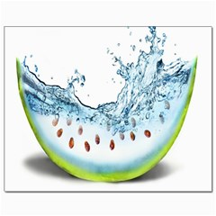 Fruit Water Slice Watermelon Canvas 8  X 10