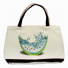 Fruit Water Slice Watermelon Basic Tote Bag (two Sides) by Alisyart