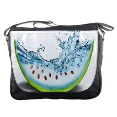 Fruit Water Slice Watermelon Messenger Bags by Alisyart