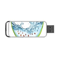 Fruit Water Slice Watermelon Portable Usb Flash (two Sides) by Alisyart
