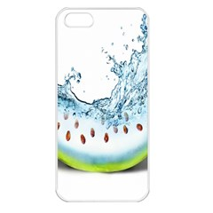 Fruit Water Slice Watermelon Apple Iphone 5 Seamless Case (white) by Alisyart
