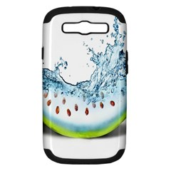 Fruit Water Slice Watermelon Samsung Galaxy S Iii Hardshell Case (pc+silicone) by Alisyart