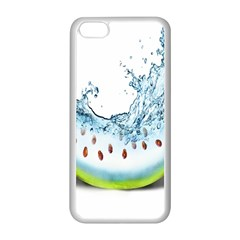 Fruit Water Slice Watermelon Apple Iphone 5c Seamless Case (white) by Alisyart