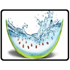 Fruit Water Slice Watermelon Double Sided Fleece Blanket (large)