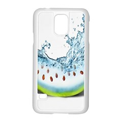 Fruit Water Slice Watermelon Samsung Galaxy S5 Case (white)
