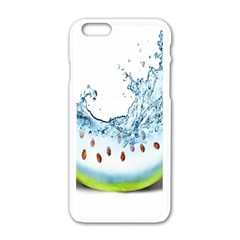 Fruit Water Slice Watermelon Apple Iphone 6/6s White Enamel Case by Alisyart