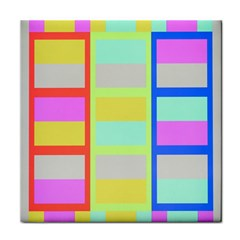 Maximum Color Rainbow Red Blue Yellow Grey Pink Plaid Flag Tile Coasters by Alisyart