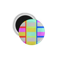 Maximum Color Rainbow Red Blue Yellow Grey Pink Plaid Flag 1 75  Magnets by Alisyart
