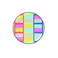 Maximum Color Rainbow Red Blue Yellow Grey Pink Plaid Flag Hat Clip Ball Marker by Alisyart