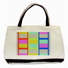 Maximum Color Rainbow Red Blue Yellow Grey Pink Plaid Flag Basic Tote Bag by Alisyart