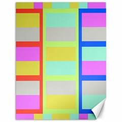 Maximum Color Rainbow Red Blue Yellow Grey Pink Plaid Flag Canvas 12  X 16