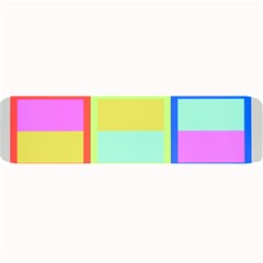 Maximum Color Rainbow Red Blue Yellow Grey Pink Plaid Flag Large Bar Mats by Alisyart