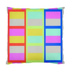 Maximum Color Rainbow Red Blue Yellow Grey Pink Plaid Flag Standard Cushion Case (two Sides)
