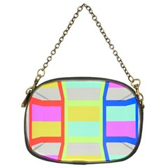 Maximum Color Rainbow Red Blue Yellow Grey Pink Plaid Flag Chain Purses (two Sides)  by Alisyart