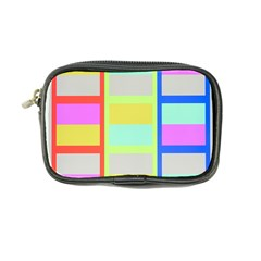 Maximum Color Rainbow Red Blue Yellow Grey Pink Plaid Flag Coin Purse by Alisyart