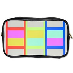 Maximum Color Rainbow Red Blue Yellow Grey Pink Plaid Flag Toiletries Bags by Alisyart