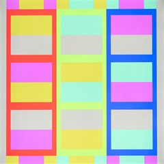 Maximum Color Rainbow Red Blue Yellow Grey Pink Plaid Flag Magic Photo Cubes by Alisyart