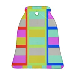 Maximum Color Rainbow Red Blue Yellow Grey Pink Plaid Flag Ornament (bell) by Alisyart