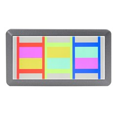 Maximum Color Rainbow Red Blue Yellow Grey Pink Plaid Flag Memory Card Reader (mini) by Alisyart