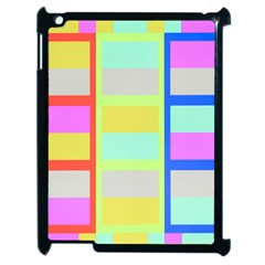 Maximum Color Rainbow Red Blue Yellow Grey Pink Plaid Flag Apple Ipad 2 Case (black) by Alisyart